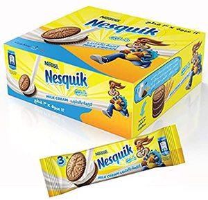 Nesquik Biscuit Sandwich Milk 12x28g