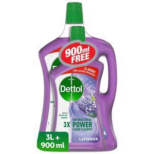 Dettol Lavender Antibacterial Power Floor Cleaner 3L+900ml