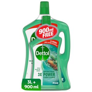 Dettol Pine Antibacterial Power Floor Cleaner 3L+900ml