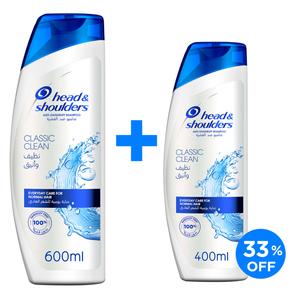 Head & Shoulders Classic Clean Anti-Dandruff Shampoo 600ml+200ml