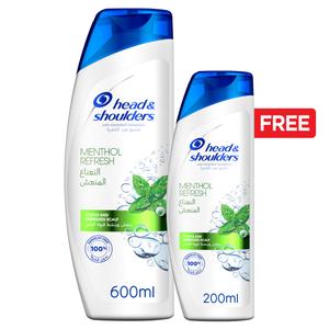 Head & Shoulders Menthol Refresh Anti-Dandruff Shampoo 600ml+200ml