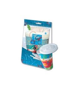 Al Bayader Paper Cup With Straws 12oz