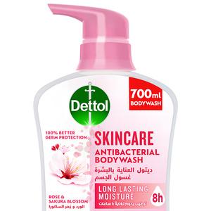 Dettol Skincare Showergel & Bodywash Rose & Sakura Blossom Fragrance 700ml