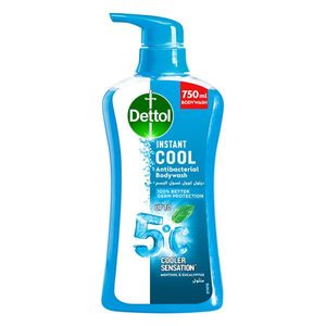 Dettol Instant Cool Menthol & Eucalyptus Liquid Antibacterial Body Wash for 100% Better Germ Protection & Personal Hygiene 700ml