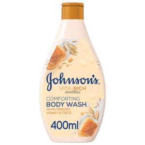 Johnson's Body Wash Vita-Rich Smoothies Comforting Yogurt Honey & Oats 400ml