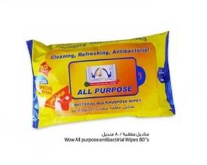 Wow Multipurpose Antibacterial Wipes 80s