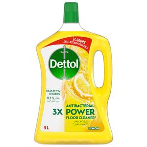 Dettol Lemon Antibacterial Power Floor Cleaner 3L