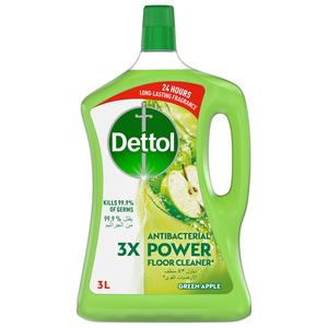 Dettol Green Apple Antibacterial Power Floor Cleaner 3L