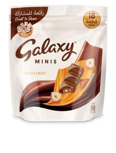 Galaxy Minis Hazelnut Chocolate Mini Bars Pouch 225g