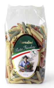 Durum Wheat Semolina Penne Tricolore 500g