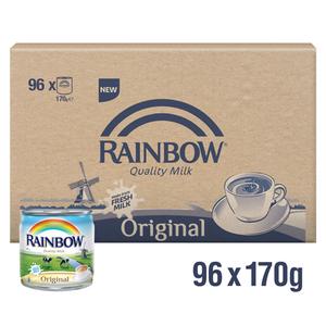 Rainbow Evaporatored Milk 96x170g