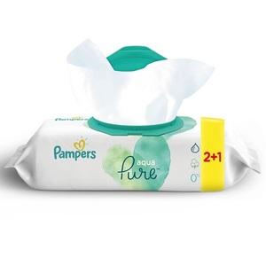 Pampers Aqua Pure Baby Wipes 2+1 144 pcs