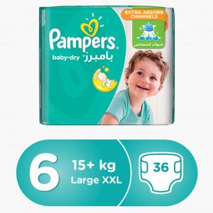 Pampers Baby Diapers, Jumbo 36s