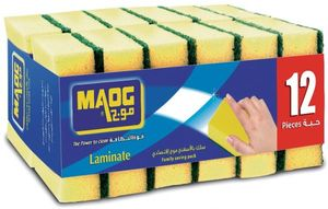 Maog Coloured sponge With Scrubber 20s