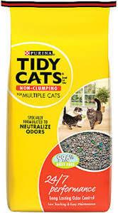 Purina Tidy Cats Non-Clumping Cat Litter 24/7 4x10lb