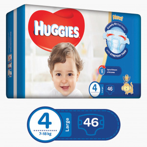 Huggies Ultra Comfort Baby Diapers Large Size 4 7-18 kg 46pcs