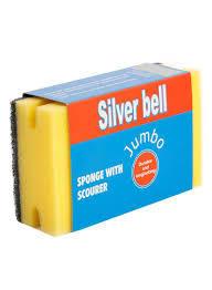 Silver Bell Jumbo Sponge With Scourer 1pc