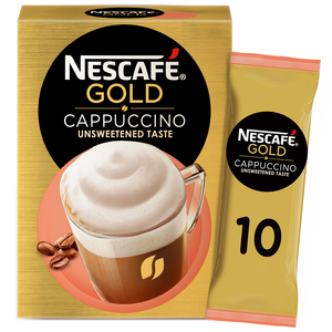 Nescafe Gold Cappuccino Unsweetened Taste Coffee Mix 10x14.2g