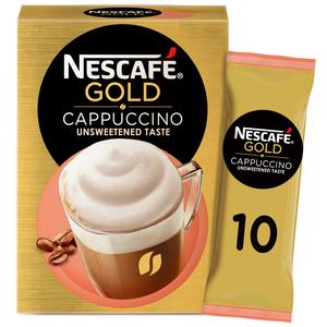 Nescafe Gold Cappuccino Unsweetened Taste Coffee Mix 10x14.2g