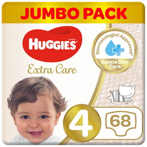 Huggies Ultra Comfort Baby Diapers Size 4 7-18 kg 68pcs