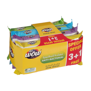 Wow Antibacterial Assorted Skin Wipes 4x10s