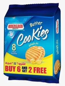 American Nutty Butter Cookies 8x90g