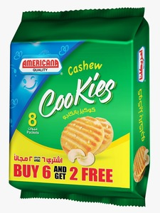 American Cashew Butter Cookies 8x90g