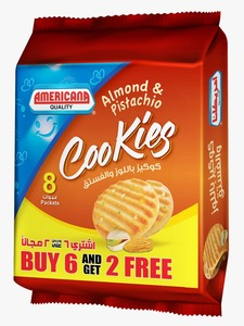 American Almond & Pistachio Cookies 8x90g