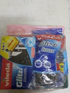 Vileda All Purpose Cloth With Glitz, Inox & Scouring Pad 1s