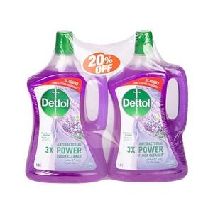 Dettol Lavender Antibacterial Power Floor Cleaner 2x1.8L
