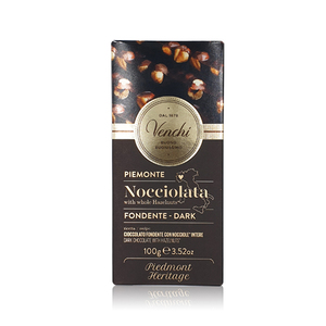 Venchi Dark Chocolate Hazelnut Bar Chocolate 100g