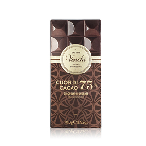 Venchi Cuor Di Cacao 75% Chocolate 100g