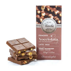 Venchi Milk Chocolate With Whole Hazelnut 100g