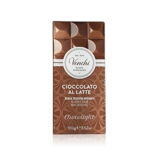 Venchi Milk Chocolate Bar Chocolight 100g