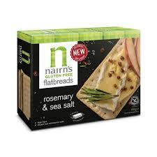 Nairns Gf Flatbreads Rosemary & Sea Salt 150g