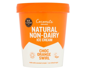 Coconuts Organic Choc Orange Swirl Ice Cream 460ml