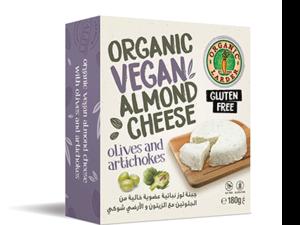 Organic Larder Vegan Almond Cheese Olives Artichoke 180g