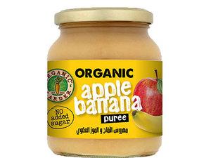 Organic Larder Puree Apple & Banana 350g