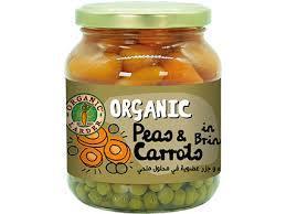 Organic Larder Peas & Carrots In Brine 340g