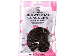 Muso Brown Rice Crackers With Black Seaweed 75g