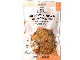 Muso Brown Rice Crackers With White Seaweed 75g