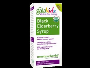 Gaia Kids Black Eldeberry Syrup 3oz