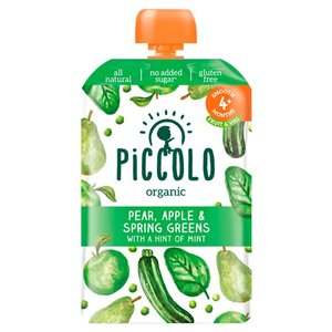 Piccolo Spring Greens Pear & Apple With Mint 100g