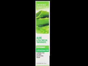 Dessert Essence Aloe & Tea Tree Oil Toothpaste Peppermint 176g