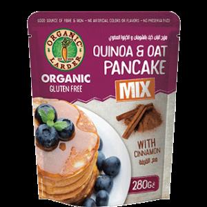 Organic Larder Quinoa & Oat Pancake Mix Cinnamon 280g