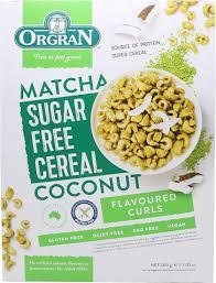 Orgran Matcha Sugar Free Cereal Coconut 200g