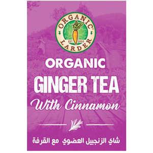 Organic Larder Tea Ginger With Cinnamon 40g