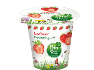 Bio Wiesenmilch Strawberry Mint Fruit Yogurt 150g