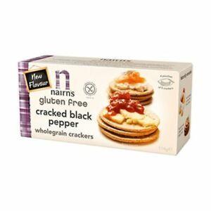 Nairns Cracked Black Pepper Wholegrain Cracker 137g