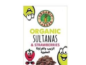 Organic Larder Sultanas With Strawberries 6x14g